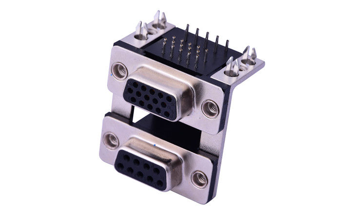 9 Pin D Sub Female Connector , 9 Pin D Shell Connector Rated Current 3.0A