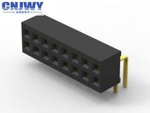 Durable 30 Pin / 40 Pin Female Header , 1.00mm Pitch Pcb Header Female