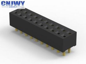 1.00 Mm 8 Pin Female Header , Female Pcb Header Withstand Voltage 500 V
