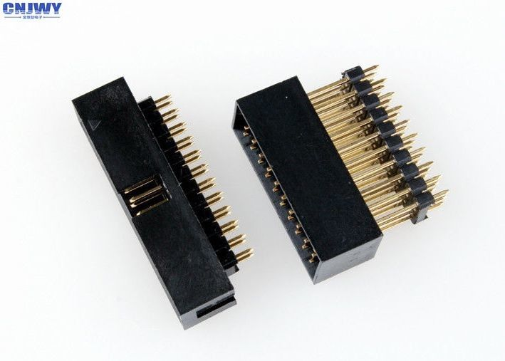2.54mm Pitch Board To Cable Connectors , Male Pin Board To Wire Connector