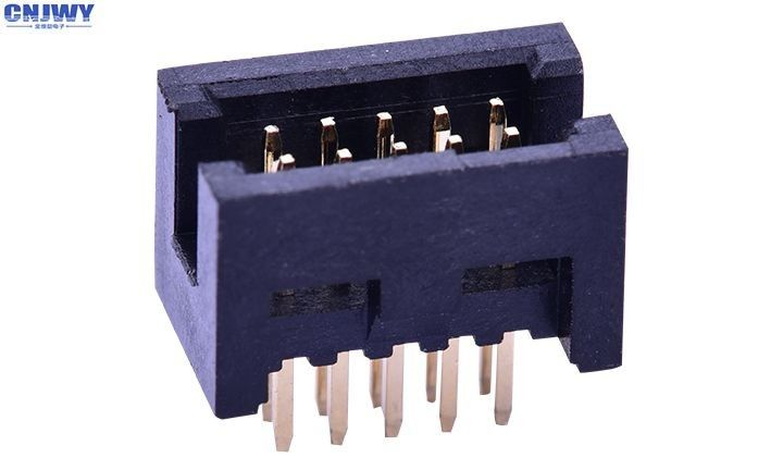 Dual Row 10 Pin Header Connector , Male Pin Pcb Wire To Board Connectors