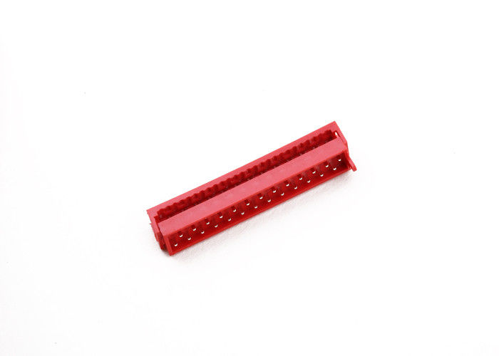 Micro Match IDC Cable Connector 1.27 Mm 06 Ways Red Color PA46 Insulation