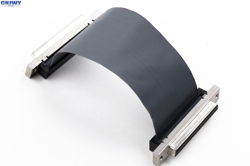 SCSI Female 1.27 Mm Pitch Ribbon Cable , Shielded 34 Pin Flat Ribbon Cable
