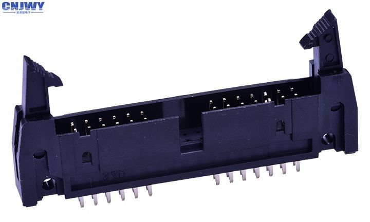 2 * 20 Pin PCB Wire To Board Connectors With Latch 1.27 Mm Ejector Header